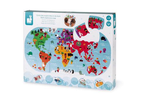 Janod Janod - badspeelgoed - wereldkaart