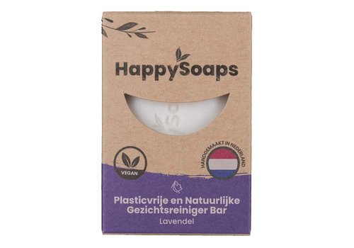 HappySoaps Happysoaps - gezichtsreiniger - lavendel - 70 gram