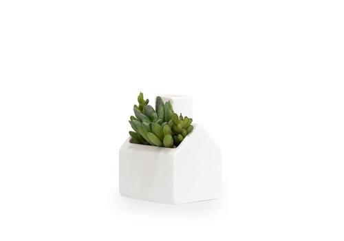 Kikkerland Kikkerland - mini plantenpot - huis