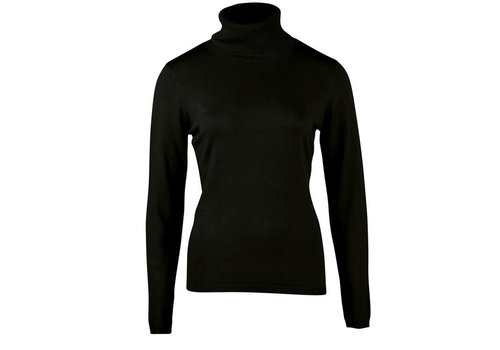 Zilch Zilch - sweater high neck bamboe - black