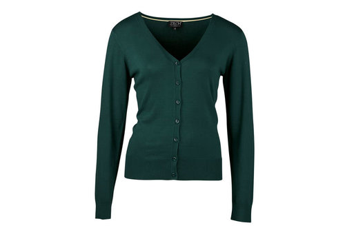 Zilch Zilch - cardigan v-neck bamboe - forest