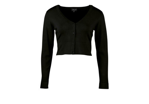 Zilch Zilch - cardigan short bamboe - black