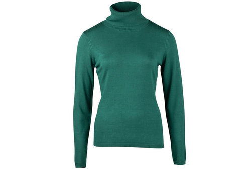 Zilch Zilch - sweater high neck bamboe - petrol