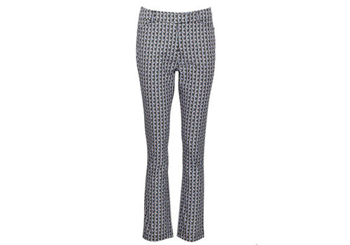 Zilch Zilch - pants woven cotton - kaleidoscope petrol
