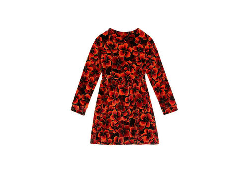 Petit Louie Petit Louie - charlotte dress ceylon - true red
