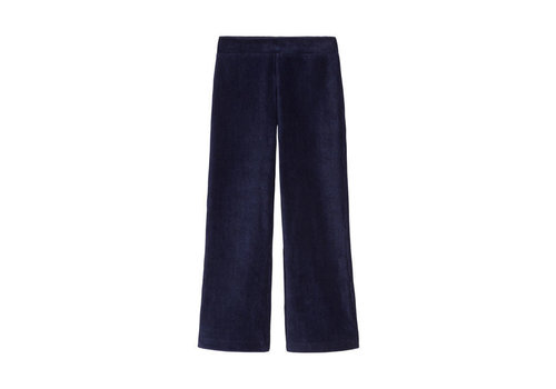 Petit Louie Petit Louie - flared pants rib velours - blue