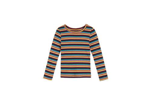 Petit Louie Petit Louie - puff t-shirt daydream stripe - beet red