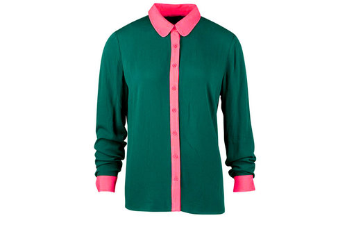 Zilch Zilch - blouse rayon chiffon - forest