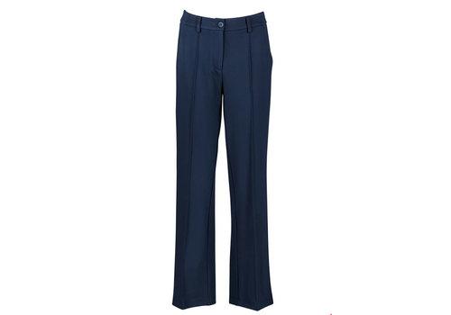 Zilch Zilch - pants viscose punto milano - navy