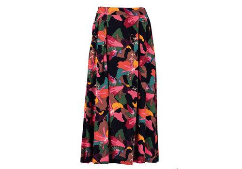 Zilch Zilch - skirt midi viscose crepe - lilly
