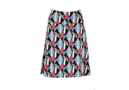 Zilch Zilch - skirt wide ecovero viscose - woodcut