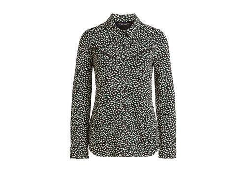 King Louie King Louie - nala collar blouse sevres - black