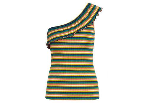 King Louie King Louie - andrea top daydream stripe - eden green