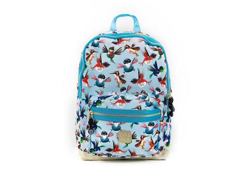 Pick & pack Pick & pack - rugzak medium - birds blue