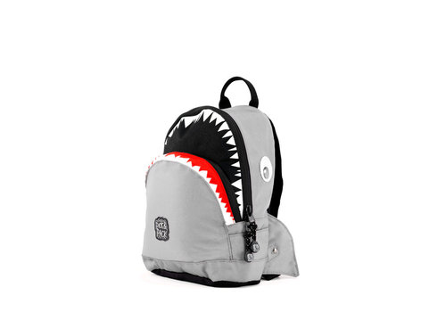 Pick & pack Pick & pack - rugzak small - shark shape grey
