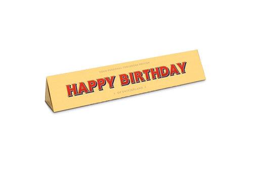 Toblerone Toblerone - chocola 100 gram - happy birthday