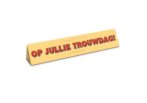 Toblerone Toblerone - chocola 100 gram - op jullie trouwdag