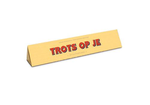 Toblerone Toblerone - chocola 100 gram - trots op je