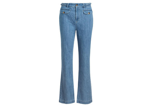 King Louie King Louie - carol braid pants canyon denim - bluestone blue