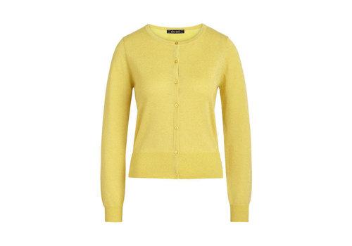 King Louie King Louie - cardi roundneck organic lapis - lemon yellow