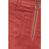 King Louie - ida front zip flared pants babyrib - velvet pink