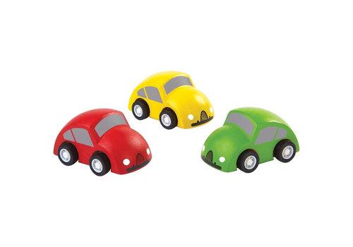 Plan Toys Plan Toys - houten auto's (set van 3)