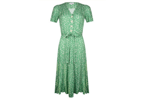 Very Cherry Very Cherry - magnolia dress voile - lily green flowers