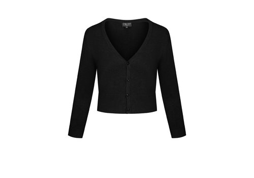 Zilch Zilch - cardigan short bamboe (ss21) - black