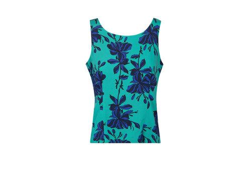 Zilch Zilch - top buttons - flowers emerald