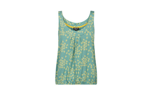 Zilch Zilch - top sleeveless - leaves porcelain