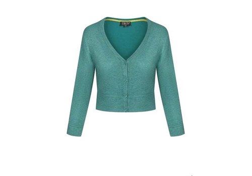 Zilch Zilch - cardigan short bamboe - emerald