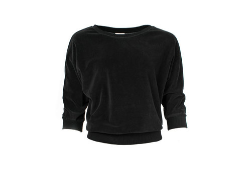 Froy & Dind Froy & Dind - sweater sybille - black velour