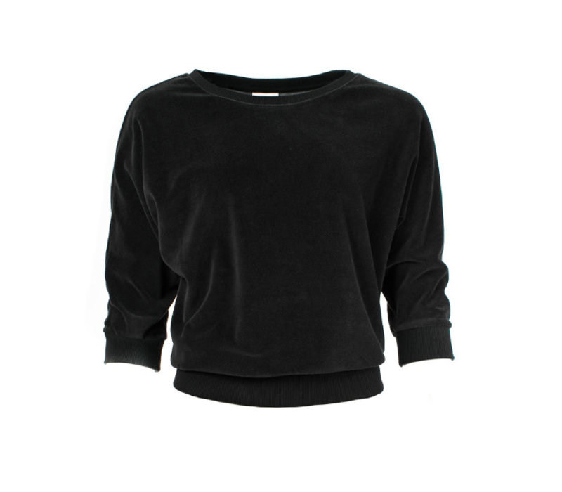 Froy & Dind - sweater sybille - black velour