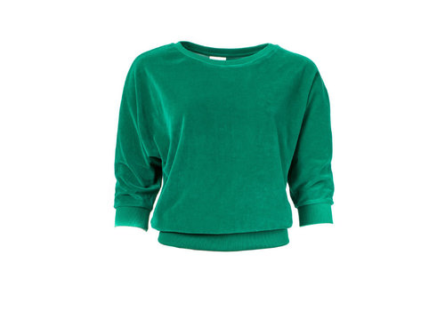 Froy & Dind Froy & Dind - sweater sybille - green velour