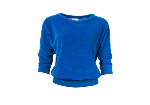 Froy & Dind Froy & Dind - sweater sybille - blue velour