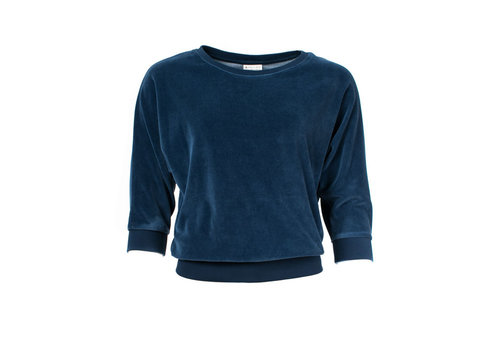 Froy & Dind Froy & Dind - sweater sybille - navy velour