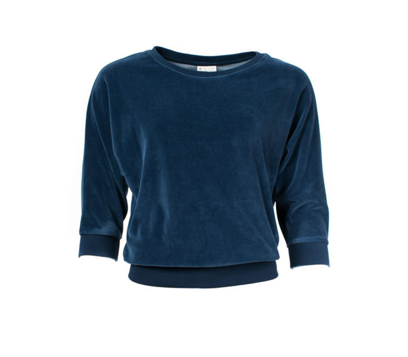 Froy & Dind - sweater sybille - navy velour