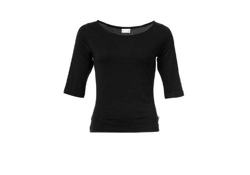 Froy & Dind Froy & Dind - shirt lina tencel - black