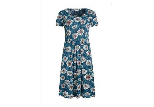 Seasalt Seasalt - enor dress - gazania daisies deep teal