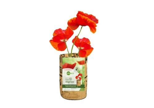 Superwaste Superwaste - let it grow bag - klaproos