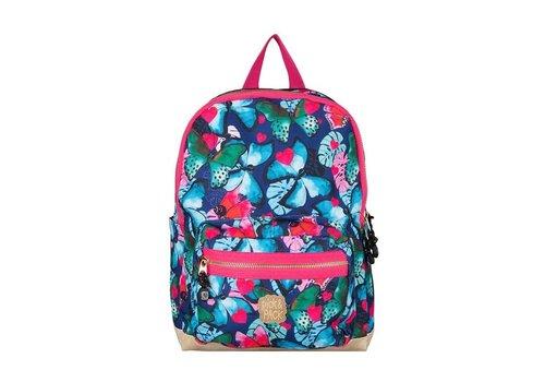 Pick & pack Pick & pack - rugzak medium - beautiful butterfly - navy