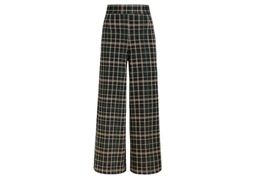King Louie King Louie - palazzo pant zeppelin check - sapphire blue