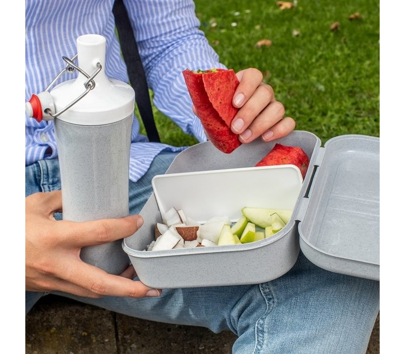 Koziol - lunchbox pascal L (met compartiment) - organic  deepblue