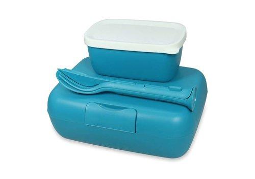 Koziol Koziol - lunchbox candy ready (met bestekset)- ocean blue