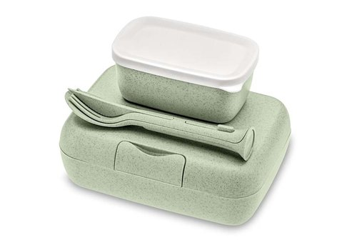 Koziol Koziol - lunchbox candy ready (met bestekset)- organic green