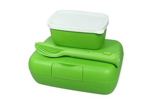 Koziol Koziol - lunchbox candy ready (met bestekset)- healthy green