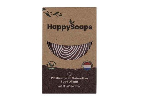 HappySoaps Happysoaps - natuurlijke body oil bar - sweet sandalwood (70g)