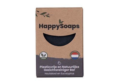 HappySoaps Happysoaps - gezichtsreiniger - houtskool en eucalyptus - 70 g