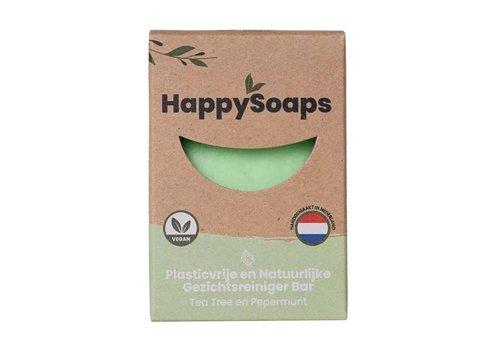 HappySoaps Happysoaps - gezichtsreiniger - tea tree en pepermunt - 70 g