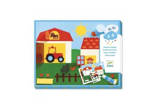 Djeco Djeco - collages - boerderij
